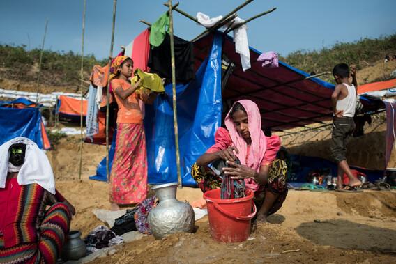 Hilfe für Rohingya in Bangladesh