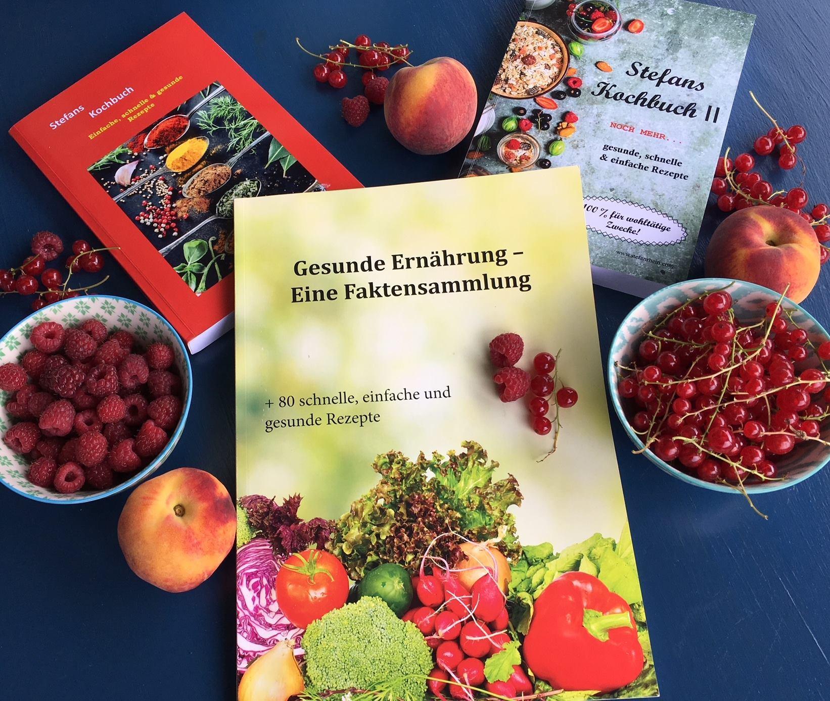 Stefans gesunde Kochbücher für wohltätige Zwecke